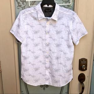 NEW! Kenneth Cole Button Down Galaxy Shirt Large
